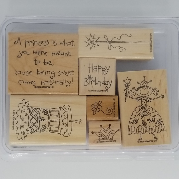 Stampin Up Pretty Princess Happy Birthday Stamps